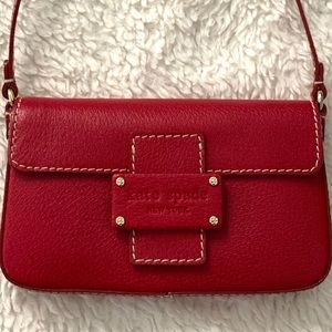 Kate Spade small red leather bag